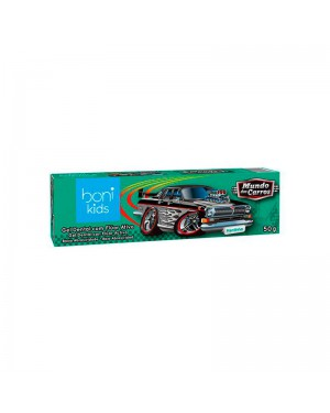 Gel Dental Vegano Boni Kids Mundo Dos Carros Mentinha 50g - Ultra Action